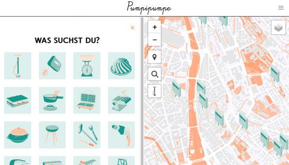 Online-Karte zeigt, was Sie von Nachbarn leihen können