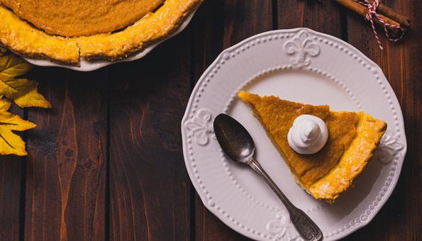 Pumpkin Pie der traditionelle Kürbiskuchen aus den USA