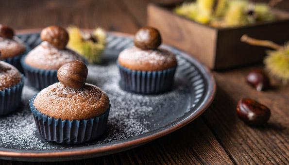 Marronicreme passt perfekt als Zutat in Muffins oder Kuchen.