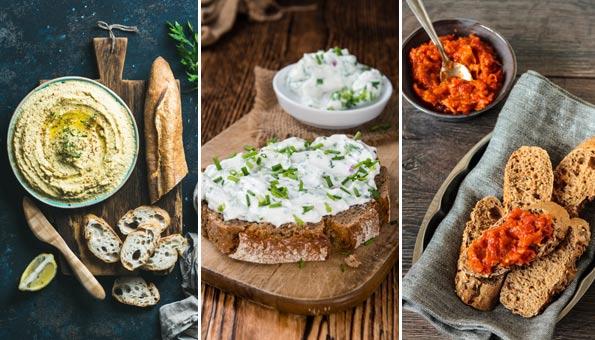 Veganer Brotaufstich: 6 schnelle Rezepte
