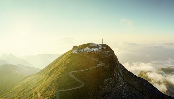 Das Faulhorn direkt beim Bachalpsee bietet einen traumhaften Panoramablick
