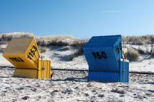 Sonnenbaden im Strandkorb, was will man mehr?