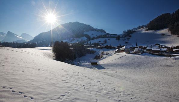 Das Diemtigtal bietet einige der schönsten Schneeschuhtouren im Berner Oberland