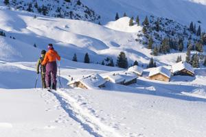Walsertal auf Schneeschuhen erwandern