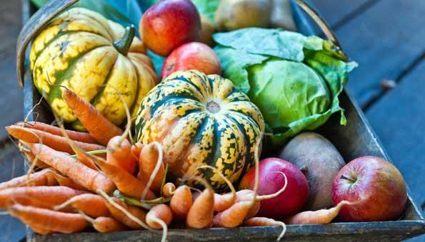 Regionale Lebensmittel: Saisonales Gemüse und Früchte im Herbst