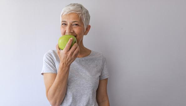 Apfel ist ein gesundes Brainfood