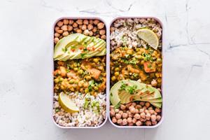 Meal Prep Rezept: Gemüsecurry mit Kichererbsen
