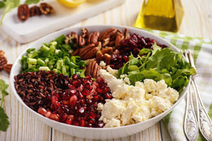Roten Reis im Salat