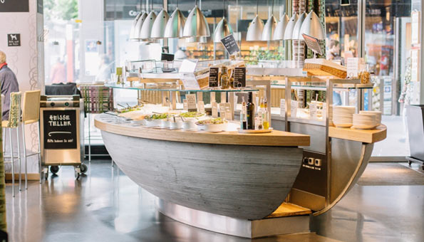 Vegane Restaurants und vegan essen in Bern: Veganes Buffet im Tibits
