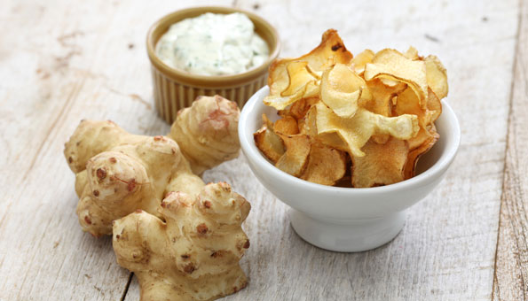 Topinambur-Chips feines Rezept für knusprige Chips aus Topinambur