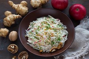 Topinambur als Salat zubereiten