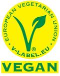 Das V-Lab kennzeichnet vegane Nahrungsmittel und Produkte.