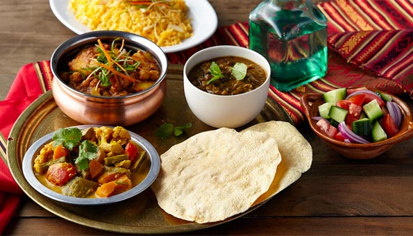 Vegane Gerichte im Maharaja Curry geniessen.