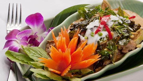 Im Thai Orchid gibt's die meisten Gerichte auch als vegane Variante