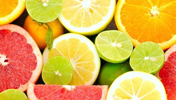 Zitrusfrüchte: Orange, Grapefruit, Limette